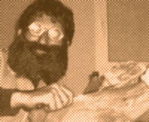 El Rendijas: foto que es fotocopia de una aparición suya en un diario de Badalona